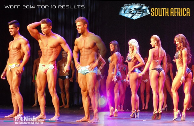 Fitness Show S.A. men & women photo stage